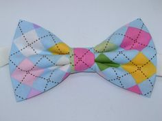 Luxury Handmade Light Blue Pre Tied Bow Tie with Bee Motifs Beehive Adjustable