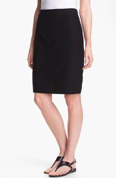Eileen Fisher Knit Pencil Skirt (Regular & Petite)