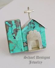 Buddy Lee Kingman Turquoise & Sterling Silver Old Mission Ring   New Mexico