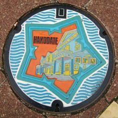 Creative manhole covers! Hokodate, Japan (photos from The Atlantic Cities)