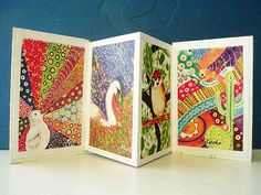 handmade accordian book