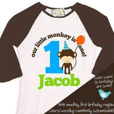 first 1st birthday monkey theme birthday party by zoeysattic