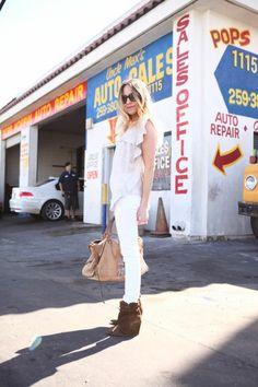 Isabel's World - A Hippie's Daughter Photography by Danielle DeBruno  www.DanielleDeBruno.com  Isabel Marant Etoile top | J Brand jeans | Zara boots, here, or here | Balenciaga bag, similar | Custom jewelry |