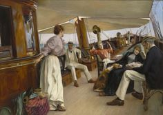 """(Never really took note of the book until now -- thanks, Pinterest!) Julius Lelblanc Stewart, On the Yacht """"Namouna,"""" Venice, 1890. Oil on canvas, 56 x 77 in. The Ella Gallup Sumner and Mary Catlin Sumner Collection Fund, 1965.32."""