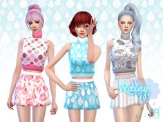 ManueaPinny Rainy set by nueajaa at TSR via Sims 4 Updates