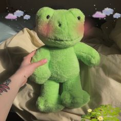 Cute Stuffed Animals, Dinosaur Stuffed Animal, Cute Animals, Kermit, Frog Pictures, Green Frog, Cute Frogs, Frog And Toad, Build A Bear