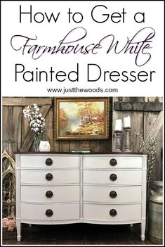 Love white painted furniture? Love farmhouse style? How about paint and stain on a dresser? This project has it all