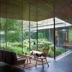 Discover amazing courtyard designs from all over the world, with indoor trees, outdoor furniture and lighting, retractable walls, patios and atrium ceilings. Modern Courtyard, Courtyard Design, Internal Courtyard, Courtyard House, Garden Design, Patio Design, Autocad, Interior Garden, Interior And Exterior