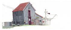 Mario Luz - Old Gas Station (Urban Sketchers)