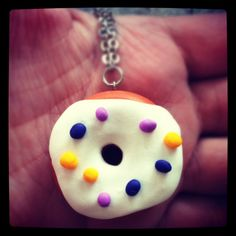 Doughnut Necklace large with Light Purple Dark by TheGentleFlower