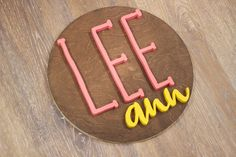 Decorate your nursery with this stylish, modern wooden name sign! Everything is hand crafted with a whole lot of love!  Each piece will be cut, sanded, painted and stained by hand. The stain may vary due to the grains and knots from the wood. That is what makes your sign so unique! Personalized Wooden Signs, Wooden Name Signs, Wooden Names, Wood Signs, Name Plaques, Wood Letters, Handmade Wooden, Knots, Grains