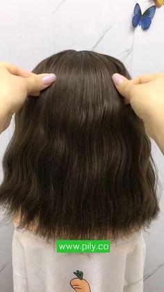Short Hair Hacks, Short Hair Styles Easy, Braids For Short Hair, Cute Hairstyles For Short Hair, Girl Short Hair, Little Girl Hairstyles, Medium Hair Styles, Curly Hair Styles, Kawaii Hairstyles