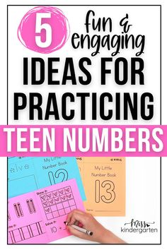 Fun ideas for practicing teen numbers. Check out these five engaging ideas for practicing the teens. These ideas are perfect for math practice during kindergarten centers or during group math instruction. Be sure to grab the teen number printable resources shared in this post! Miss Kindergarten, Kindergarten Math Activities, Fun Activities, Teen Numbers, Math Practices, Number Sense, Book Show, Little Books, Student