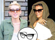 "Who Wore these identical @Dita Eyewear ""Magnifique"" sunglasses Best? Miley Cyrus vs Rihanna ....  #eyewearbyolga #ebo #dita #ditaeyewear #eyewear #japan #handmadeinJapan #handcrafted #celebs #mileycyrus #rihanna #shades #luxury #frames #stunning #eyecandy #funky #stylish #cateye #sunglasses #sunnies #fashion & #style"