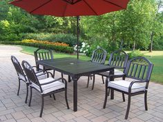 Rochester 7 Piece Dining Set with Cushions