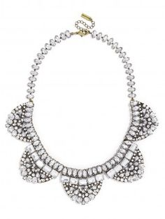 Fashion Necklaces: Statement, Chains & More : Clear, Pink and Gray