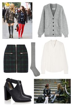 """""""Serena Van Der Woodsen school uniform"""" by beautyfoolyou ❤ liked on Polyvore featuring Madewell, Maison Margiela, Vanessa Bruno, Senso and M&Co"""