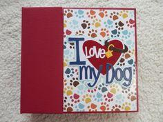 6x6 I Love My Dog Scrapbook Album by SimplyMemories on Etsy