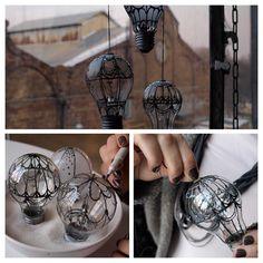 DIY des montgolfières à partir d'ampoules !!