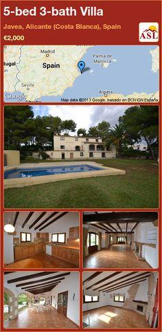 5-bed 3-bath Villa in Javea, Alicante (Costa Blanca), Spain ►€2,000 #PropertyForSaleInSpain