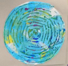 Charlotte Naylor, Y7 Collograph Printing. St Mary's Catholic High School