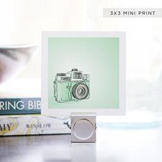 Mini Print  Mint Green Holga Portrait  3 x 3 by DieselAndJuice, $5.00