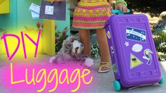 Learn how to make American Girl Doll Luggage from this simple craft tutorial. Get Printables Here ~ http://www.americangirlideas.com/diy-american-girl-doll-l...