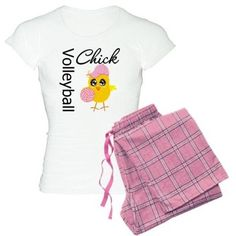 Volleyball Chick Pajamas on CafePress.com