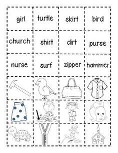 First Grade Shenanigans: Work Work Freebie (er, ir, ur) First Grade Words, First Grade Phonics, First Grade Reading, First Grade Classroom, Second Grade, Jolly Phonics, Teaching Phonics, Phonics Worksheets, Phonics Activities