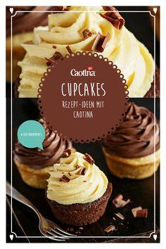 Dieses Cupcake Rezept macht all deine Liebsten glücklich: Cupcakes eigenen sich zum Dessert und vielen anderen Gelegenheiten. Mit Caotina Original. Yummy Food, Tasty, Cupcake Cookies, Muffins, Deserts, Sweets, Healthy Recipes, Drink, Baking