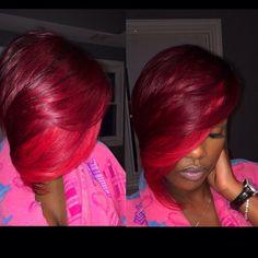 Short Sassy Hair, Short Curls, Short Hair Cuts, Short Hair Styles, Ombre Hair, Pink Hair, Glam Hair, Hair Game, Funky Hairstyles