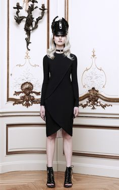Long Sleeve Wrap-Effect Dress ~ Givenchy