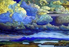 Nicolas Roerich, Battle in the Heavens, 1912