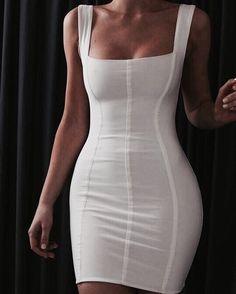 Sexy and stunning white con dress short dresses, cute dresses, beautiful K Fashion, Fashion Beauty, Fashion Looks, Fashion Outfits, Womens Fashion, Fashion Clothes, Trendy Fashion, Fashion Ideas, Fashion Tips
