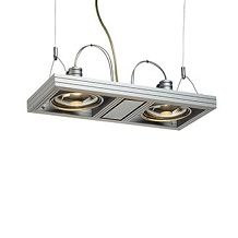 Intalite Core Product Range - Aixlight Duo Pendant Ceiling Fitting - Matt Silver Grey Finish