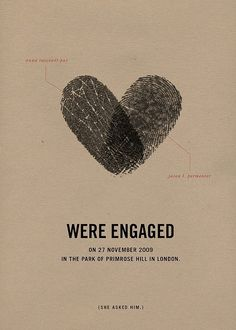 Both his and her fingerprint make a heart. LOVE this!