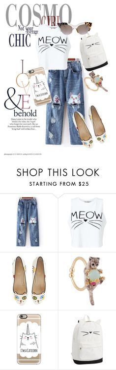 """""""cat fashion"""" by anya2991 on Polyvore featuring ASOS, Miss Selfridge, Charlotte Olympia, Les Néréides, Casetify and Fendi"""