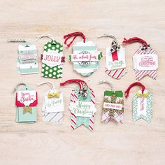 This week the CTC crew look at the kits in the Stampin' Up! Holiday Catalogue for inspiration. I've used the Oh What Fun Tag Kit to make Christmas cards. Merry Christmas, Christmas Tree Lots, Stampin Up Christmas, Christmas Cards To Make, Christmas Gift Tags, Christmas Crafts, Xmas Gifts, Christmas Ideas, Christmas Ornaments