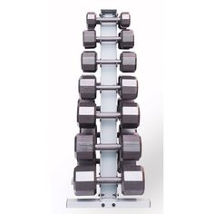 #getinthegame Includes two each of 5, 10, 15, 20, 25, 30 and 25lb dumbbells- totaling 280lbs. Includes the rack Styles may vary by store