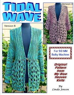 Tidal Wave Jacket - Machine Knit Pattern
