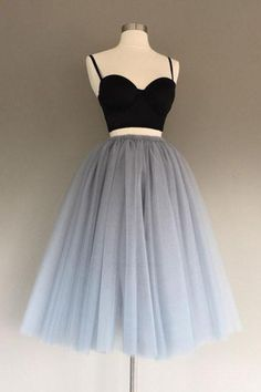 Short Prom Dress, Two Pieces Prom Dress, Homecoming Dresses 2018, Cute Homecoming Dresses #TwoPiecesPromDress #ShortPromDress #HomecomingDresses2018 #CuteHomecomingDresses