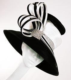 Black/white Church hat