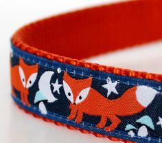Star Fox Dog Collar, Navy Blue Collar, Adjustable Collar, Ribbon Dog Collar by daydogdesigns on Etsy https://www.etsy.com/listing/130437300/star-fox-dog-collar-navy-blue-collar