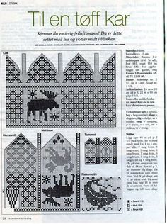 Knitting Patterns Mittens Knit Moose mittens and Hat charts Knitted Mittens Pattern, Crochet Mittens, Knit Or Crochet, Knitting Charts, Knitting Socks, Hand Knitting, Knitting Patterns, Knitting Designs, Knitting Projects