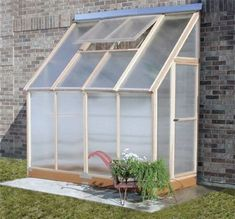 Lean-to Greenhouse, may have to build this; would love to have one.