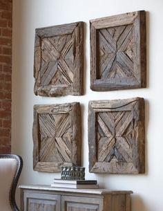 Uttermost rennick reclaimed wood wall art decor ideas for my house амбарное Reclaimed Wood Wall Art, Rustic Wood Walls, Reclaimed Wood Projects, Rustic Wall Decor, Wooden Wall Art, Wooden Walls, Wood Wood, Painted Wood, Wood Artwork