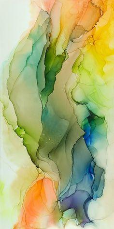 """Tilt Shift"", ink on Claybord, 36""x18"", ©2018 Andrea Pramuk Art Studio, LLC, www.andreapramuk.com"