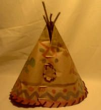 Paper bag replica of a Great Plains teepee.  Great for intergrating math and social studies.