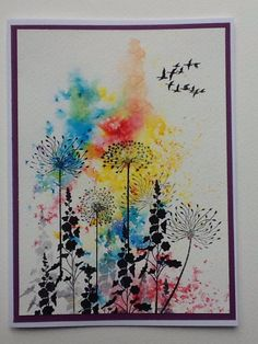 Eileen Godwin creates more beautiful cards using the Brusho inks Watercolor Cards, Watercolor Flowers, Lavinia Stamps Cards, Pen And Wash, Art Carte, Karten Diy, Card Making Inspiration, Art Journal Pages, Flower Cards
