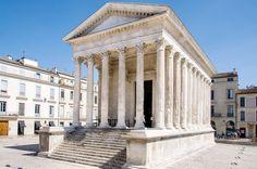 Roman Temple, Maison Carree, Nimes, Provence, France
